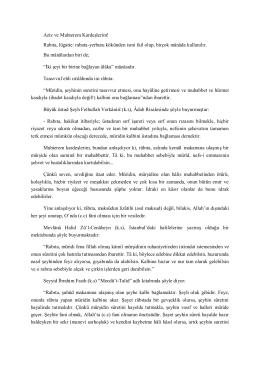 Rabıta, lügatte: rabata-yerbutu kökünden ismi fail