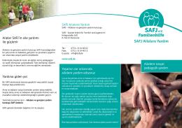 SAFJ Ailelere Yardım