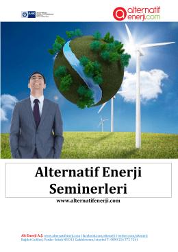 Alternatif Enerji Seminerleri