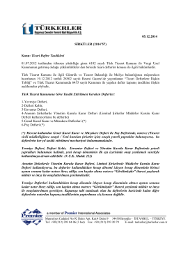 05.12.2014 Ticari Defter Tasdikleri