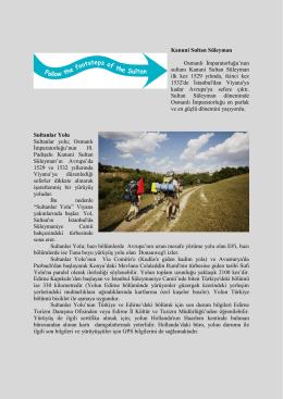 Sultanlar Yolu Genel (Türkçe) - Edirne İl Kültür ve Turizm Müdürlüğü