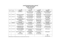 Organik Tarım Eğitim Programı2014 - Ziraat Fakültesi
