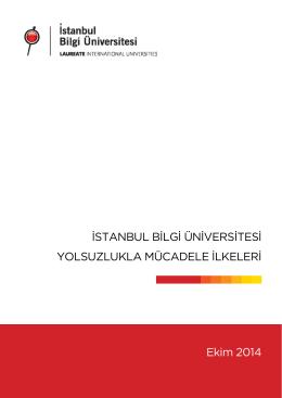 Yolsuzlukla Mücadele İlkeleri - İstanbul Bilgi Üniversitesi