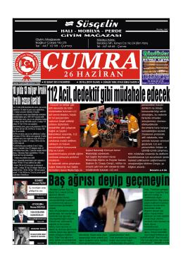 2 - Çumra 26 Haziran Gazetesi