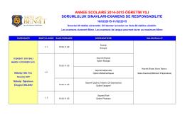 annee scolaıre 2014-2015 öğretim yılı sorumluluk sınavları