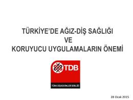 sunum - Türk Dişhekimleri Birliği