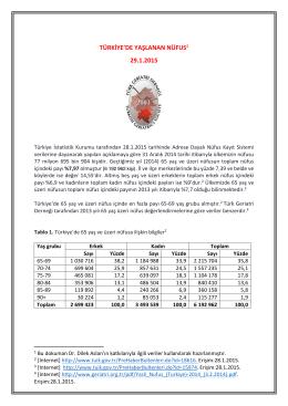 Pdf için Tıklayınız - Türk Geriatri Derneği