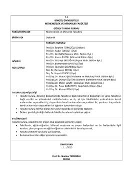 Fakülte kurulu - Bingöl Üniversitesi