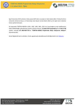 TÜBİTAK-ARDEB Projelerinde Bütçe Oluşturma ( 11