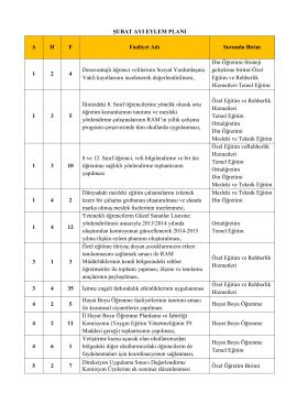 tokat il milli eğitim müdürlüğü şubat 2015 eylem planı