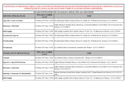 2014-2015 eğitim-öğretim yılı bahar yarıyılında başvuruda bulunan