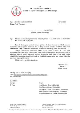 Bu evrak güvenli elektronik imza ile imzalanmıştır. http