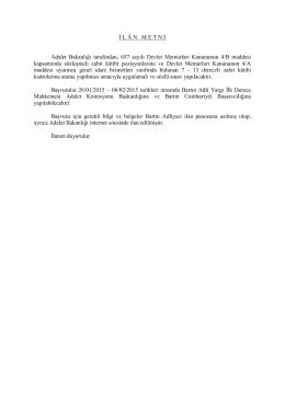 Sözleşmeli Zabıt Katipliği pozisyonlarına personel
