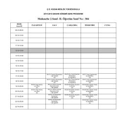 2.Sınıf- II. Öğretim Ders Programı