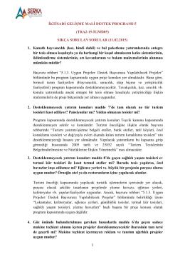 İKTİSADİ GELİŞME MALİ DESTEK PROGRAMI-5 (TRA2-15