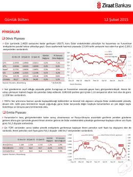 12 Şubat 2015 tarihli piyasa yorumu
