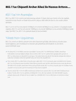 802.11ac Chipsetli Archer Ailesi ile Hızınızı Arttırın - TP-Link