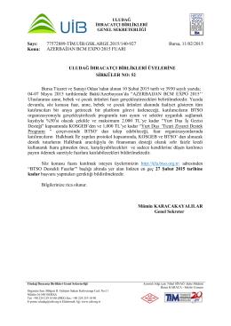 sirkuler no 52 azerbaycan bcm expo 2015