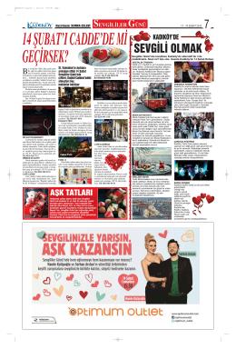 SEVGİLİ OLMAK - Gazete Kadıköy