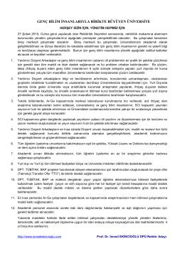 Genç Bilim - Prof. Dr. İsmail EKİNCİOĞLU