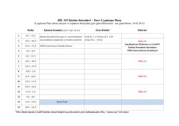 Ders Uygulama Planı - Akademik Web Sayfaları