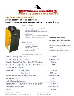24000 btu 7/24 spot cooler