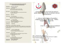 proğram ve davetiye - Adana Kamu Hastaneleri Birliği Genel