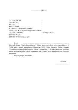 Dilekçe - Milli Eğitim Bakanlığı