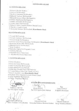 Başiskele İlçesi Eğitim Bölgeleri 13.02.2015 11:58