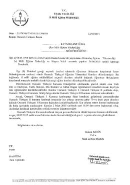 Osmanlı Türkçesi Kursu 13.02.2015 08:46
