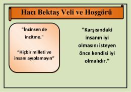 Hacı Bektaş Veli ve Hoşgörü