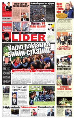 e-gazete - Afyon Lider Gazetesi