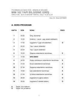 program - İstanbul Teknik Üniversitesi