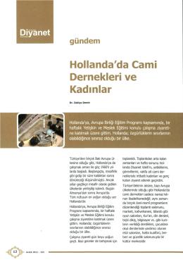 Hollanda`da Cami Dernekleri ve Kadinlar