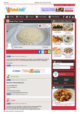 Sade Pilav Tarifi - Yemek Tarifi İndir