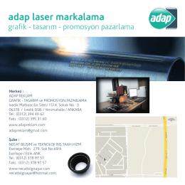 adap laser markalama