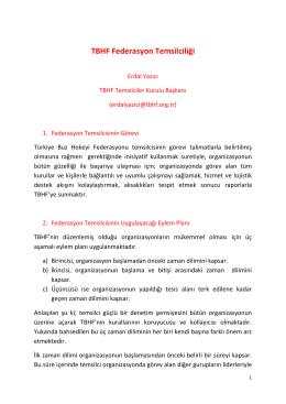 Temsilci Görevleri - Yayınlayan: Erdal Yazıcı