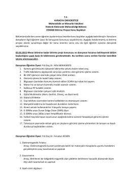 Bitirme Konuları - Avrasya Üniversitesi