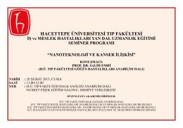 lütfen tıklayınız... - Hacettepe Üniversitesi Tıp Fakültesi Halk Sağlığı