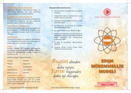 EFQM MÜKEMMELLİK MODELİ - Türkiye Büyük Millet Meclisi