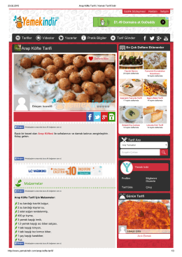 Arap Köfte Tarifi - Yemek Tarifi İndir