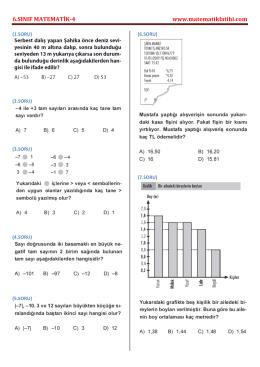 6.SINIF MATEMATİK-4 www.matematikfatihi.com