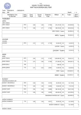 20 Subat Haftalık Bülten - Denizli Ticaret Borsası