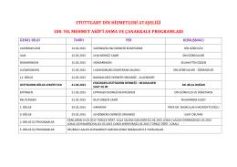 Çanakkale programları 2015