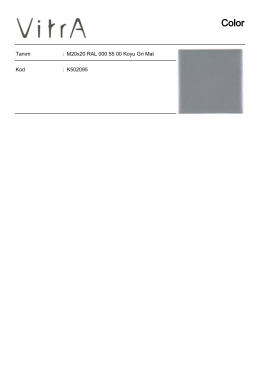 Tanım : M20x20 RAL 000 55 00 Koyu Gri Mat Kod : K502095