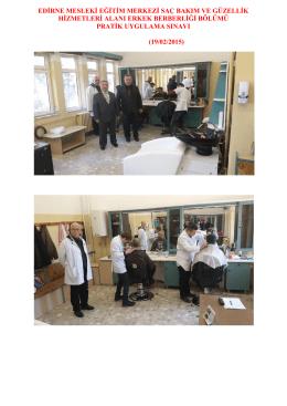edirne mesleki eğitim merkezi saç bakım ve güzellik hizmetleri alanı