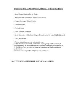 mal alımı sırasında gerekli evraklar
