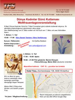 Dünya Kadınlar Günü Kutlaması Weltfrauentagsveranstaltung