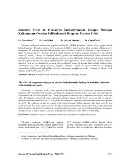 Klomifen Sitrat ile Ovulasyon İndüksiyonunda Eksojen Östrojen