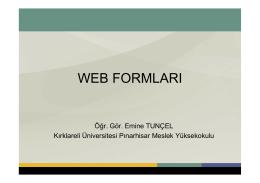 04_Web Formları - Kırklareli Üniversitesi Personel Web Sistemi